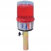 SH-L26 太陽能警示燈(鐵握把)  說明: 燈殼直徑11公分 自動感應發光 自動充電 紅 / 黃 / 藍 / 綠