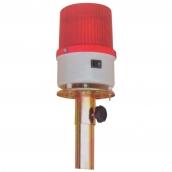 SH-L08 LED中型警示燈頭  說明: 自動感光發亮,含鐵桿(SH-L25無鐵桿) 1號電池2顆 紅 / 黃 / 藍 / 綠