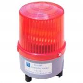 SH-L25 中型LED警示燈  說明: 燈殼直徑11公分,LED*9旋轉 紅 / 黃 / 藍 / 綠 AC 110V ~220V共用或 DC 12V~ 24V共用(AC或DC擇一型式)