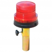 SH-L22 小型LED哈雷警示燈(鐵握把)  說明: 燈殼直徑9公分 自動感光發亮 1號電池2顆 紅 / 黃 / 藍 / 綠 / 透明