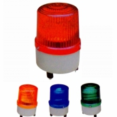 SH-L05 中型警示燈LED  說明: 燈殼直徑11公分 紅 / 黃 / 藍 / 綠 / 紫 110V / 220V / 24V / 12V