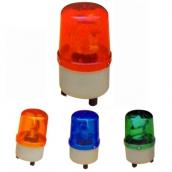 SH-L06 小型警示燈LED  說明: 燈殼直徑9公分 紅 / 黃 / 藍 / 綠 / 紫 110V / 220V / 24V / 12V<BR> 規格:4顆LED輪流閃