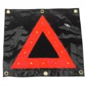 SH-L16 LED帆布三角警示燈  說明: 長43cm 高39cm 12V / 3號電池 閃爍 / 定光