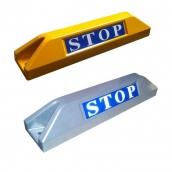 SH-551 鋁合金車輪擋<P>規格:本體鋁合金+烤漆 ( 黃Y / 銀S ),STOP反光貼紙<P>約長55㎝*寬11.5㎝*高10㎝,1kg  ( 誤差±3% )