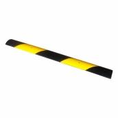 SH-R1010 橡膠黑黃斜紋微型減速帶<br> 約長100cm*寬10cm(±1%),厚2cm橡膠斜紋,約2.2kg