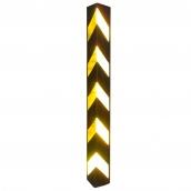 SH-R61R 橡膠反光護邊條  規格:主體橡膠材質,貼5道黃色反光紙,約100㎝*10cm*10cm、厚度:1㎝ ( 誤差±3% )重約2.5kg (照片為實際反光效果 )
