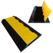 SH-R5590 橡膠5槽線槽<br> 橡膠材質,黃色PVC蓋板<br>整體 長約90㎝*寬約50㎝*高約5㎝,重約13kg<br>     內槽尺寸:約3cm*高3㎝