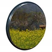 SHS-49P 不鏽鋼防盜鏡<p>規格:鏡面不鏽鋼,直徑約49㎝,背襯U型十字金屬簡易支架