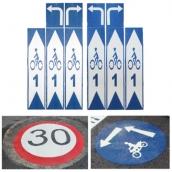 SH-FM 自行車標線 規格:藍白,可訂製內容