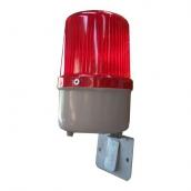 SH-LD31L-R (12-24V LED 小型警示燈+L板紅色) 4顆LED小型警示燈 、閃爍 紅 / 黃 / 藍 / 綠四種燈光供選擇 12V ~24V共用, 閃爍/旋轉跑馬 ,規格:直徑約9cm /高度約15cm