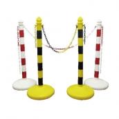 SP-96 PE活動安全欄柱 規格:6.5cm*H96*36cm 水底盤:1.2kg/裝水6.8kg 裝砂石:1.06kg/裝砂4kg
