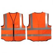SH-RV12 美式多口袋反光背心-螢光橘