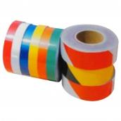 SH-RFS5B 商業級反光警示帶  說明:寬度:2cm / 2.5cm / 5cm / 10cm / 15cm;長度:45m;顏色:黃黑斜紋 / 橘白斜紋 / 紅白斜紋 / 白 / 紅 / 黃 / 橘 / 藍 / 綠
