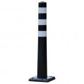 SH-SP88U-BL 防撞桿/公園立柱/景觀立柱/人行道立柱/人行景觀道立柱/分隔桿<br> 主體PU材質,3道反光貼紙,直徑7.5㎝,高度75.5㎝,底盤直徑20cm