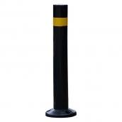SH-SP92UDH-B 防撞桿/公園立柱/景觀立柱/人行道立柱/人行景觀道立柱/景觀分隔桿;<br>主體PU材質可彎式防撞桿,直徑9㎝,高度75㎝,底盤直徑21cm