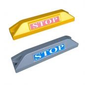 車輪擋本體鋁合金+烤漆 ( 551Y_BJ黃 / 551S_BJ銀 ),STOP反光貼紙<br>規格約: 長55㎝*寬12㎝*高9.6㎝ ,1.1kg