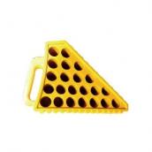 SH-P23 PVC車輪塞 規格:2.5kg±3%黃色/黑色 L23(含耳)*W12*H17.5CM±3%