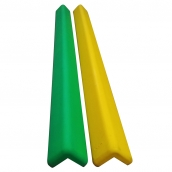 SH-PL60M PU發泡軟質包鍍鋅鐵防護條<P>規格:PU發泡材質 ( 顏色有多種可選 )<P>約:長100㎝*5.8㎝*寬5.8㎝、厚度:1.8㎝ ( 誤差±3% )以膨脹螺絲固定
