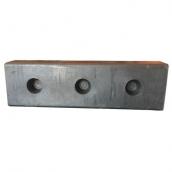 SH-R802511SP 橡膠卸貨塊<br> 橡膠卸貨塊,長80*寬25*厚11公分 ,3個安裝孔