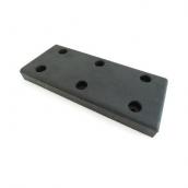 PD-6025 橡膠卸貨檔板 規格:長60*寬25*厚6CM (孔4.5*3.1CM深) 4分螺絲孔