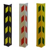 SH-R40A 橡膠防撞條反光<p> BY黑底貼黃反光紙/WR白底貼紅反光紙/YD黃底貼綠反光紙<p>約8.8cmx8.8cmx55cm