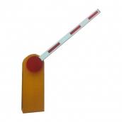 高張力鋼材一體成型,紅色反光片具警示作用,柵欄桿採用鋁合金材質尺寸H100*W25mm,長可達6米。接受110V/220V電源。