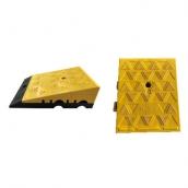 RSP-253 底槽式線槽斜坡磚 規格:橡膠/PVC,尺寸請詢問 PVC:黃色-25*30*H5/8cm 黑色-25*35*H3cm 組合後25*35+H8/11cm