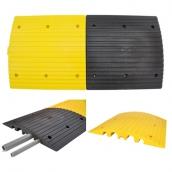 SH-P5055 PVC減速墊線槽<br> 規格約:長50㎝*寬50㎝*高度5.5㎝<br> 有黑黃兩種顏色<br> 大槽寬約5cm,高3.7cm*2槽<br> 小槽寬約3cm,高2.8cm*2槽<br> 不含管子