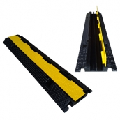 SH-R22410橡膠2槽線槽<br> 橡膠材質,黃色PVC蓋板<br>整體約 長98㎝*寬24㎝*高4.5㎝,重約6kg<br>內槽尺寸:約3㎝*3㎝