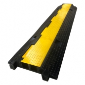 SH-R2200橡膠2槽線槽<br> 橡膠材質,黃色PVC蓋板<br>整體約 長98㎝*寬24㎝*高4.5㎝<br>內槽尺寸:約3㎝*3㎝