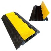SH-R3590橡膠大三線槽<br>  橡膠材質,黃色PVC蓋板<br>整體 長約91㎝*寬約54㎝*高約8㎝,重約18.5kg <br> 內槽尺寸:約6㎝*高6㎝