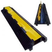 SH-R12679 橡膠中一線槽<br> 橡膠材質,黃色PVC蓋板<br>整體約 長99㎝*寬26㎝*高6.5㎝,重約8.7kg<br>內槽尺寸:約7㎝*5㎝