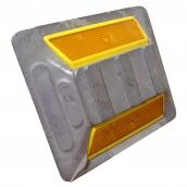 SH-D135 平式單腳鑄鋁標記<P>約13cm*15cm 說明:可選擇雙黃或紅白反光片
