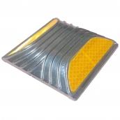 SH-D581 平面型鑄鋁標記<P>說明:L:10㎝、W:10㎝、H:2㎝ ( 誤差±3% ),可搭配紅、黃或白色反光貼紙