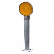 SH-D12 鑄鋁式單面導標(不含柱桿)<br> 反光片直徑約:10cm,不含鐵桿<br> 導標頭內徑約4.1cm,外徑約5.5cm<br> SH-D13 鑄鋁式單面導標頭(不含柱桿)<br> 反光片直徑約:10cm,不含鐵桿 <br> 導標頭內徑約4.1cm,外徑約5.5cm<br>