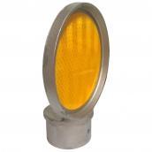 SH-D13 鑄鋁式單面導標頭<br> 反光片直徑約:10cm,<br> 導標頭內徑約4.1cm,外徑約5.5cm<br>