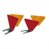 D139 扇形導標 規格:上10+下4cm*高9cm, 上12.5+下3.8cm*高7cm