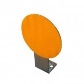 SH-D10C <br>L型底座反光導標<p>說明:紅/黃反光貼紙 <br>T=1.5 直徑10cm 高約13cm,<br>可選單面或雙面