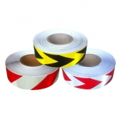 SH-RFS5H高強級反光紙卷<br> 說明:PVC  5cmx50M<br> RW紅白斜紋卷<br> WR-A白底紅箭頭<br> YB-A黃底黑箭頭<br>