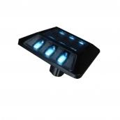 SH-DL04 太陽能單腳鑄鋁平面閃光標記<P>說明: 雙向各3顆LED燈 ( 閃爍 )<P>可搭配紅、黃色反光片