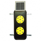 SH-DL250KD<br>太陽能二聯式導標 太陽能危險第一類導標 <br>尺寸:35cm*15cm*6cm ,7LED*2顆