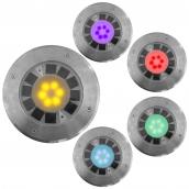 SH-DL79 太陽能不鏽鋼地燈  說明:有多種顏色供選擇<P> 尺寸(約):直徑180mm