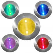 SH-DL80 太陽能不鏽鋼地燈  說明:有多種顏色供選擇<P> 尺寸(約):直徑120mm