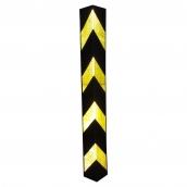 SH-R41RB 橡膠反光護邊條(小瑕疵B級品)<br> 規格:主體橡膠材質,貼4道黃色反光紙,約78cm*9.5㎝*9.5㎝、厚度:1㎝ ( 誤差±3% )重2.3kg (照片為實際反光效果)